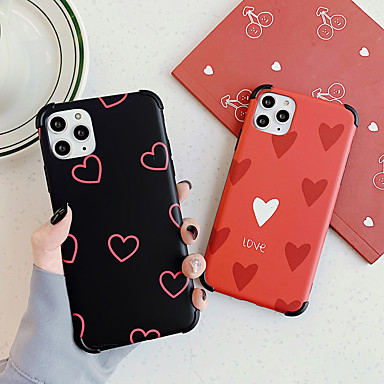 cheap Cell Phone Cases-Case For Apple iPhone 11 / iPhone 11 Pro / iPhone 11 Pro Max Pattern Back Cover Heart TPU / PC
