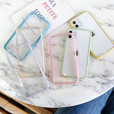 voordelige iPhone 6 Plus hoesjes-hoesje Voor Apple iPhone 11 / iPhone 11 Pro / iPhone 11 Pro Max Schokbestendig / Transparant Achterkant Effen Acryl
