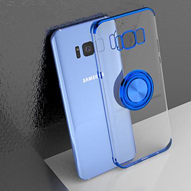 Недорогие Чехлы и кейсы для Galaxy S-Кейс для Назначение SSamsung Galaxy S9 / S9 Plus / S8 Plus Защита от удара / Кольца-держатели / Матовое Кейс на заднюю панель Однотонный ТПУ / Металл