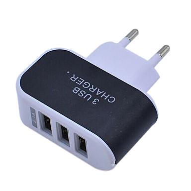 olcso iPod töltők-Hordozható töltő USB töltő EU konnektor Több csatlakozós / Szabályos 3 USB port 2.1 A 100~240 V mert Univerzalno