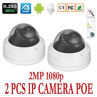 رخيصةأون كاميرات المراقبة IP-2PCS 2mp 3.6mm بو onvif كاميرا ip ip66 للماء في الهواء الطلق الوصول عن بعد / الأشعة تحت الحمراء قطع