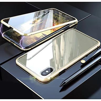 voordelige iPhone 6 hoesjes-hoesje Voor Apple iPhone 11 / iPhone 11 Pro / iPhone 11 Pro Max Doorzichtig Volledig hoesje Transparant Gehard glas / Metaal