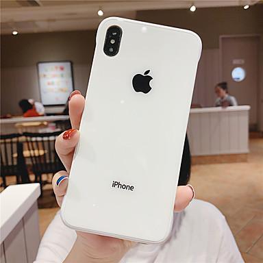 voordelige iPhone-hoesjes-hoesje Voor Apple iPhone 11 / iPhone 11 Pro / iPhone 11 Pro Max Stofbestendig Achterkant Effen Gehard glas