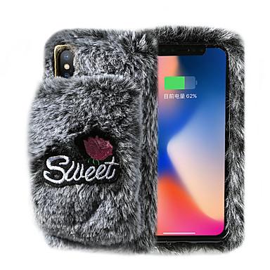 voordelige iPhone X hoesjes-hoesje Voor Apple iPhone 11 / iPhone 11 Pro / iPhone 11 Pro Max met standaard / Ringhouder / DHZ Achterkant Effen / Pluche tekstiili