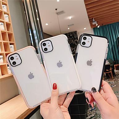 voordelige iPhone-hoesjes-hoesje Voor Apple iPhone 11 / iPhone 11 Pro / iPhone 11 Pro Max Stofbestendig / Doorzichtig Achterkant Effen TPU