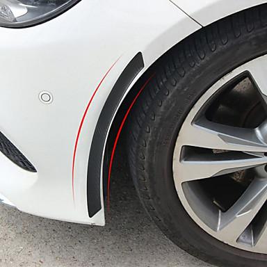 olcso Autóipari külső kiegészítők-2db / tétel autó kerék szemöldöke lökhárító szalag ütközésgátló lökhárító védőfelszerelés matrica díszlécek dekorációs szalag autóstílus kiegészítők