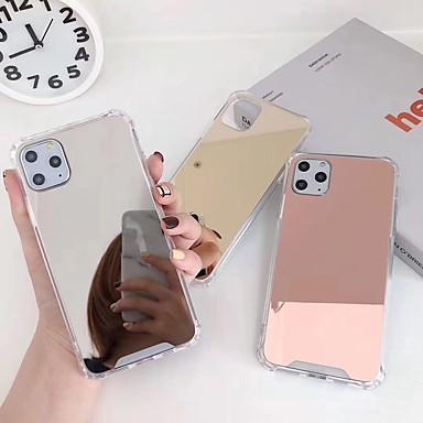 Недорогие Кейсы для iPhone 6-Кейс для Назначение Apple iPhone 11 / iPhone 11 Pro / iPhone 11 Pro Max Защита от удара / Покрытие / Зеркальная поверхность Кейс на заднюю панель Однотонный Акрил