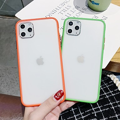 voordelige iPhone-hoesjes-hoesje Voor Apple iPhone 11 / iPhone 11 Pro / iPhone 11 Pro Max Mat / Doorzichtig Achterkant Transparant TPU / PC