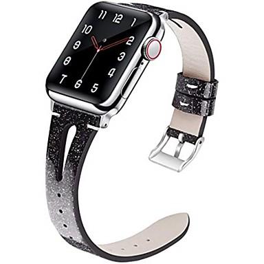 Недорогие Ремешки для Apple Watch-Кожаный ремешок, совместимый для Apple Watch Band 40 мм 38 мм 44 мм 42 мм тонкий элегантный ремешок женщины сменные полосы для серии iwatch 5 серии 4/3/2/1 модный женский дышащий дизайн щели