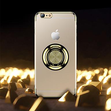 Недорогие Кейсы для iPhone 6-Кейс для Назначение Apple iPhone 8 / iPhone 7 Plus / iPhone 7 Защита от удара / Кольца-держатели / Матовое Кейс на заднюю панель Однотонный ТПУ / пластик / Металл