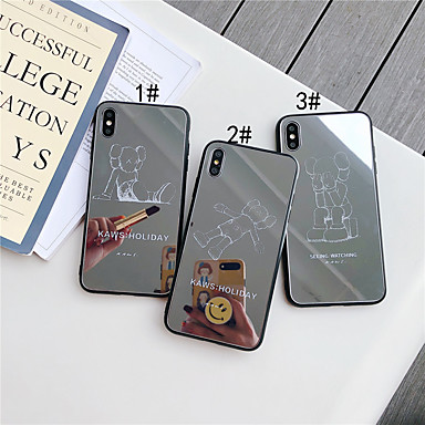 voordelige iPhone-hoesjes-hoesje Voor Apple iPhone 11 / iPhone 11 Pro / iPhone 11 Pro Max Spiegel / Patroon Achterkant Cartoon Gehard glas