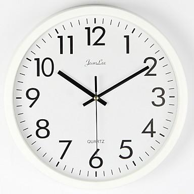 저렴한 홈 데코-벽 시계 자동 비 똑딱-10 인치 품질 석영 배터리 작동 라운드 읽기 쉬운 집 / 사무실 / 교실 / 학교 시계