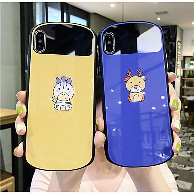 voordelige iPhone-hoesjes-hoesje Voor Apple iPhone 11 / iPhone 11 Pro / iPhone 11 Pro Max Spiegel Achterkant dier / Cartoon Gehard glas