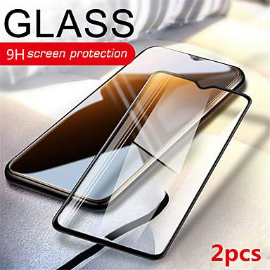 olcso Képernyő védők-2db oneplus képernyővédő fólia oneplus 7t / oneplus 7 / oneplus 6t / oneplus 6 9h keménységű első képernyővédő edzett üveg