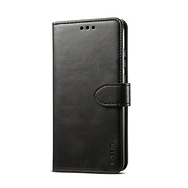 voordelige Galaxy Note-serie hoesjes / covers-hoesje Voor Samsung Galaxy S9 / S9 Plus / S8 Plus Kaarthouder / Magnetisch / Auto Slapen / Ontwaken Volledig hoesje Effen PU-nahka