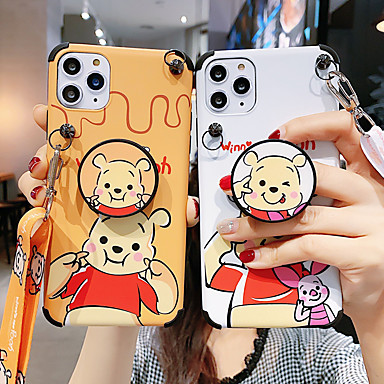 cheap Cell Phone Cases-Case For Apple iPhone 11 / iPhone 11 Pro / iPhone 11 Pro Max Shockproof / with Stand / Pattern Back Cover Cartoon PC