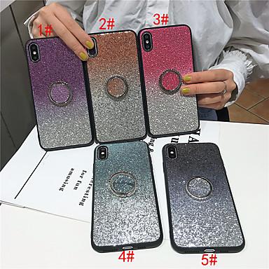 voordelige iPhone 6 Plus hoesjes-hoesje Voor Apple iPhone 11 / iPhone 11 Pro / iPhone 11 Pro Max met standaard / Glitterglans Achterkant Kleurgradatie TPU