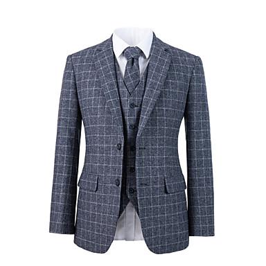 povoljno Prilagođeno odijelo-sivo odijelo od tvida od vune