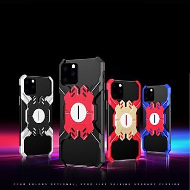 baratos Capinhas para iPhone-Capinha para iphone 11 / iphone 11 pro / iphone 11 pro max à prova de choque / com suporte / ultra-fina capa traseira armadura liga de alumínio capa para iphone xs max / xr / xs / x / iphone 8 plus /