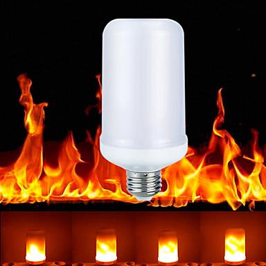 ราคาถูก อุปกรณ์เสริมสำหรับ LED และไฟ-ywxlight® E27 / e26 led ผลเปลวไฟหลอดไฟ 3 โหมด led ไดโอดแบบไดนามิกเปลวไฟโคมไฟบ้านร่มบรรยากาศแสง ac 85-265 โวลต์