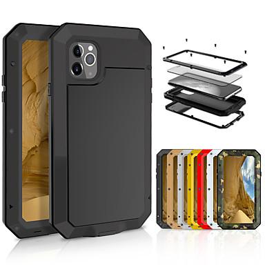 Недорогие Кейсы для iPhone X-Кейс для Назначение Apple iPhone 11 / iPhone 11 Pro / iPhone 11 Pro Max Защита от удара Чехол Плитка Металл