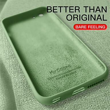 Недорогие Кейсы для iPhone-чехол для iphone 11 / 11pro / 11promax / x / xs / xr / xsmax / 8p / 8 / 7p / 7 / 6p / 6 противоударная задняя крышка однотонный силикагель