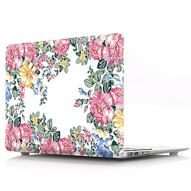 olcso MacBook védőburkok, védőhuzatok, táskák-kemény borítóhéj a MacBook tokhoz pro air retina 11/12/13/15 (a1278-a1989) pvc virág átlátszó