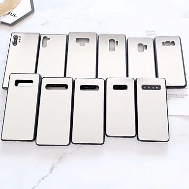 voordelige Galaxy Note-serie hoesjes / covers-hoesje Voor Samsung Galaxy S9 / S9 Plus / S8 Plus Beplating / Spiegel Achterkant Effen Acryl