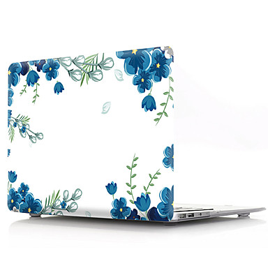 رخيصةأون حافظات وحقائب وأغطية أجهزة ماك-قشرة صلبة غطاء ل macbook case pro air retina 11/12/13/15 (a1278-a1989) pvc زهرة شفافة