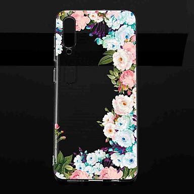 Недорогие Чехлы и кейсы для Galaxy S-Кейс для Назначение SSamsung Galaxy S9 / S9 Plus / S8 Plus Прозрачный / С узором Кейс на заднюю панель Цветы ТПУ