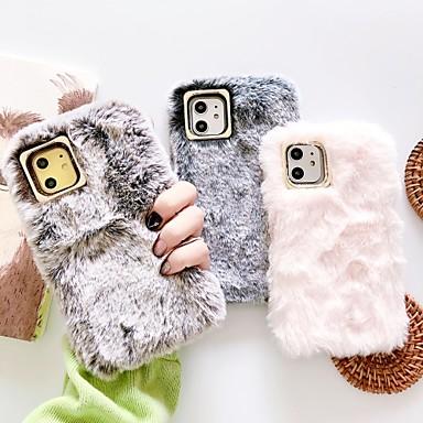Недорогие Кейсы для iPhone 6 Plus-Кейс для Назначение Apple iPhone 11 / iPhone 11 Pro / iPhone 11 Pro Max Своими руками Кейс на заднюю панель Однотонный / Плюш текстильный