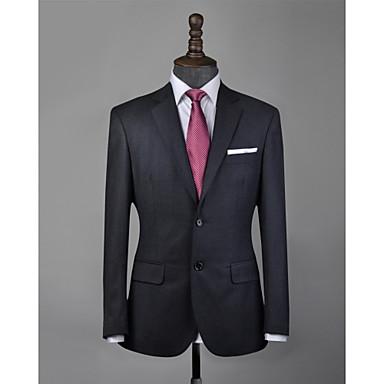 levne Pánské obleky-vlastní oblek z šedé vlny