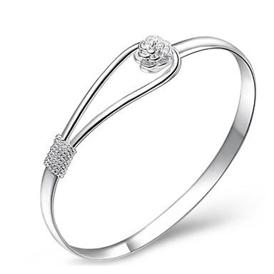 povoljno Narukvice-2020 moda romantična posrebrena ruža trešnja cvijet rezbari lanac manžetna narukvica narukvica za žene jednostavan dar 925 špiljski nakit
