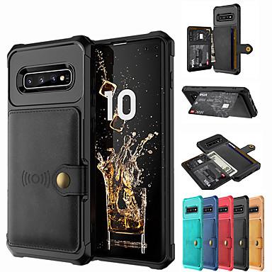 billiga Fodral och skal till Galaxy Note-serien-fodral iphone11 / 11pro / 11promax / x / xs / xr / xs max plånbok / korthållare / stötsäker ryggskydd massivt färgat pu läder / pc
