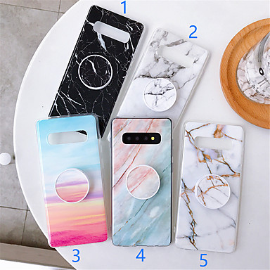 cheap Galaxy Note Series Cases / Covers-Case For Samsung Galaxy S9 / S9 Plus / S8 Plus with Stand / Pattern Back Cover Marble TPU