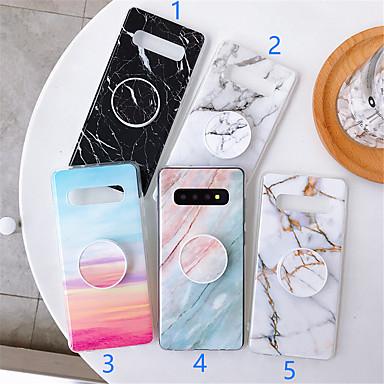 رخيصةأون حافظات / جرابات هواتف جالكسي A-غطاء من أجل Samsung Galaxy S9 / S9 Plus / S8 Plus مع حامل / نموذج غطاء خلفي حجر كريم TPU