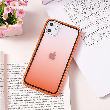Недорогие Кейсы для iPhone 6 Plus-Кейс для Назначение Apple iPhone 11 / iPhone 11 Pro / iPhone 11 Pro Max С узором Кейс на заднюю панель Градиент цвета ТПУ