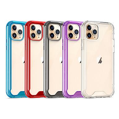 Недорогие Кейсы для iPhone 7-Кейс для Назначение Apple iPhone 11 / iPhone 11 Pro / iPhone 11 Pro Max Защита от удара / Прозрачный Кейс на заднюю панель Прозрачный / Однотонный Акрил
