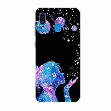 voordelige Galaxy A-serie hoesjes / covers-hoesje voor Samsung Galaxy A50 (2019) / J6 Plus 2018 / S10 Plus Patroon Achterkant Wishing Star TPU voor A10 (2019) / A20 (2019) / A40 (2019) / S10 / S10 Plus / J4 Plus 2018 / Note 10 Plus