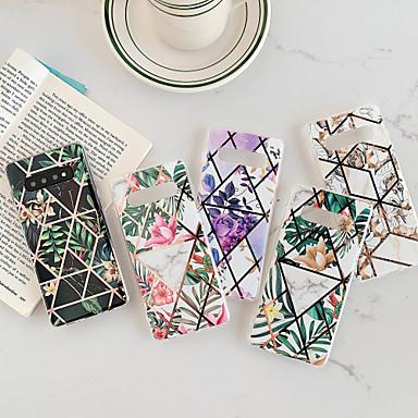 voordelige Galaxy S-serie hoesjes / covers-hoesje Voor Samsung Galaxy S9 / S9 Plus / S8 Plus Beplating / IMD / Patroon Achterkant Bloem TPU