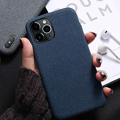 Недорогие Кейсы для iPhone X-Кейс для Назначение Apple iPhone 11 / iPhone 11 Pro / iPhone 11 Pro Max Защита от удара / Ультратонкий Кейс на заднюю панель Однотонный Кожа PU