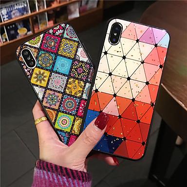 voordelige iPhone-hoesjes-hoesje Voor Apple iPhone 11 / iPhone 11 Pro / iPhone 11 Pro Max Patroon / Glitterglans Achterkant Geometrisch patroon / Glitterglans PC