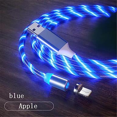 povoljno Kablovi i adaperi za mobitel-Rasvjeta Kabel 1.0m (3ft) LED svjetlećim USB kabelski adapter Za iPhone