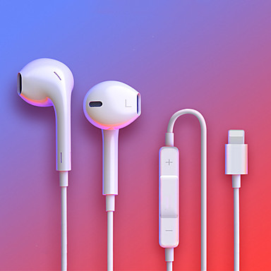 cheap Headsets & Headphones-For IPhone In Ear Stereo Headphones with Microphone Wired Bluetooth Earphone for IPhone 8 7 Plus X XR XS Max 10 Headset