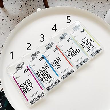 voordelige iPhone 6 Plus hoesjes-hoesje Voor Apple iPhone 11 / iPhone 11 Pro / iPhone 11 Pro Max Transparant / Patroon Achterkant Woord / tekst TPU