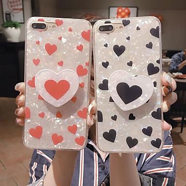 Недорогие Кейсы для iPhone X-Кейс для Назначение Apple iPhone 11 / iPhone 11 Pro / iPhone 11 Pro Max со стендом Кейс на заднюю панель С сердцем ТПУ