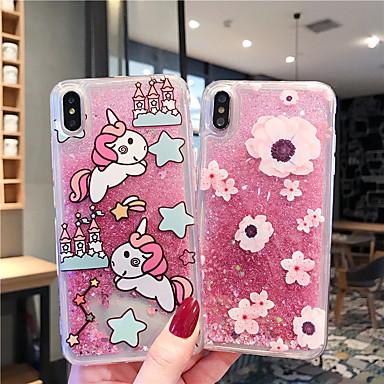 voordelige iPhone-hoesjes-hoesje Voor Apple iPhone XS / iPhone XR / iPhone XS Max Stromende vloeistof Achterkant Glitterglans TPU / PC