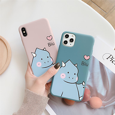 voordelige iPhone 7 hoesjes-hoesje Voor Apple iPhone 11 / iPhone 11 Pro / iPhone 11 Pro Max Patroon Achterkant Hart / Cartoon TPU