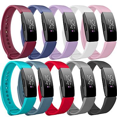 Недорогие Аксессуары для смарт-часов-Ремешок для часов для Fitbit Ace 2 / Fitbit Inspire HR / Fitbit Inspire Fitbit Спортивный ремешок силиконовый Повязка на запястье