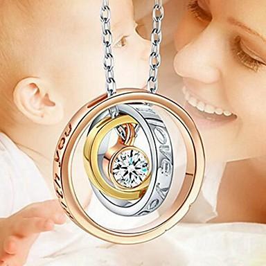 رخيصةأون قلادات-نسائي قلائد الحلي موضة كروم تقليد الماس فضي 48 cm قلادة مجوهرات 1PC من أجل مناسب للبس اليومي